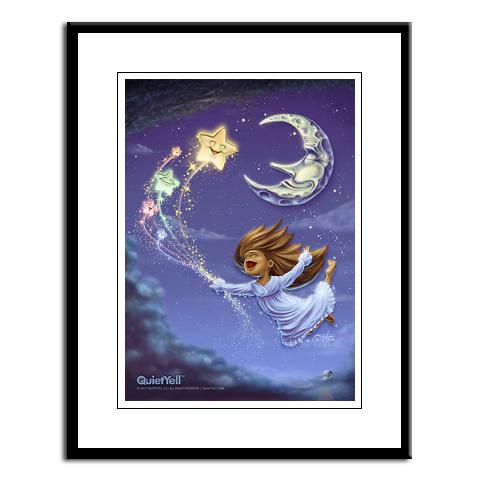 QuietYell™ Featured Product Design & Portfolio: Bedtime Travels Illustration - Visit www.QuietYell.com and Find QuietYell on CafePress and Zazzle