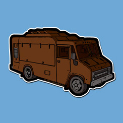 QuietYell™ Featured Product Design & Products: Food Truck - Visit www.QuietYell.com and Find QuietYell on CafePress and Zazzle