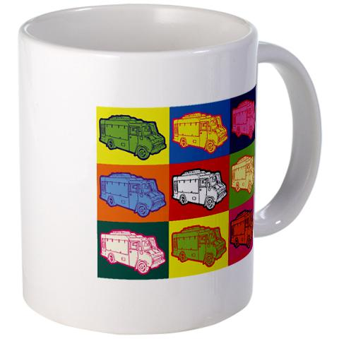 QuietYell™ Featured Product Design & Products: Food Truck Pop Art - Visit www.QuietYell.com and Find QuietYell on CafePress and Zazzle